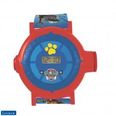 Paw Patrol La Patrulla Canina Chase Reloj correa ajustable pantalla digital con 20 proyecciones de Chase