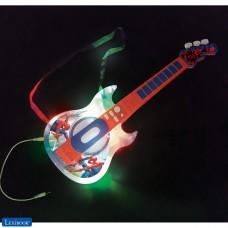 Spider-Man Guitarra electrónica luminosa con micrófono
