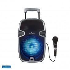 Enceinte karaoké Bluetooth® iParty sur roulettes avec effets lumineux et micro inclus