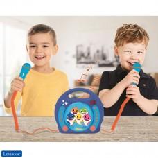 Baby Shark Nickelodeon - Reproductor CD Karaoke con 2 micrófonos integrados