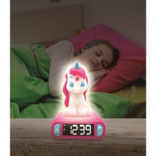 Luz Nocturna Radio y Reloj Unicornio