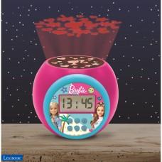 Reloj despertador con proyector Barbie con función de repetición y alarma