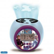 Reloj despertador con proyector Disney Frozen 2 Anna Elsa con función de repetición y alarma