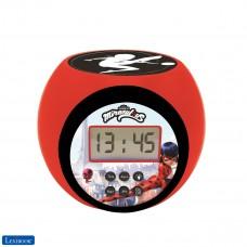 Reloj despertador con proyector Miraculous con función de repetición y alarma
