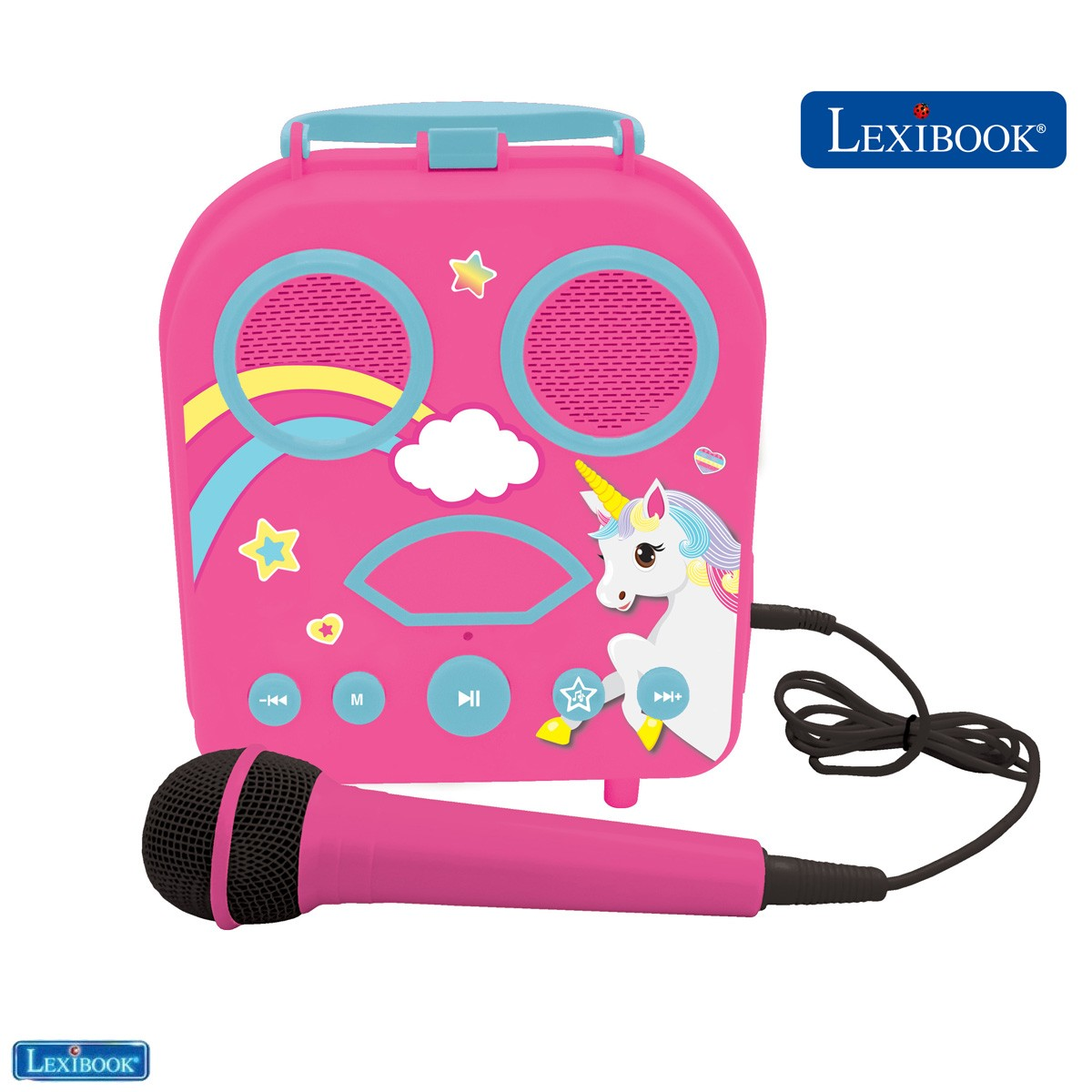Karaoke portatile con microfono