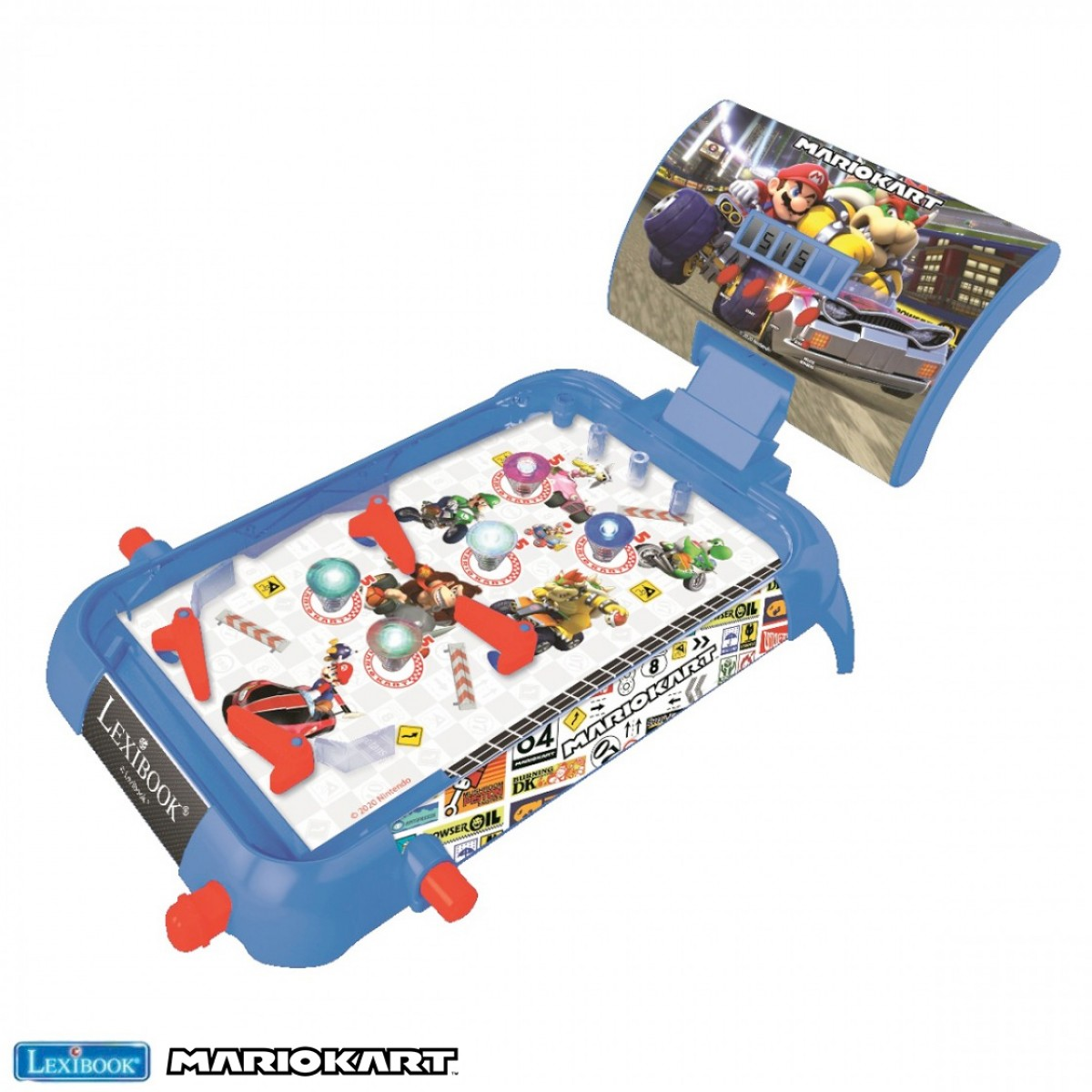 Mario Kart Flipper elettronico da tavolo, gioco d'azione e riflesso per bambini e famiglie