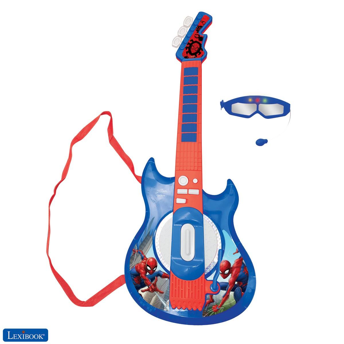Spider-Man Chitarra elettronica illuminata con microfono