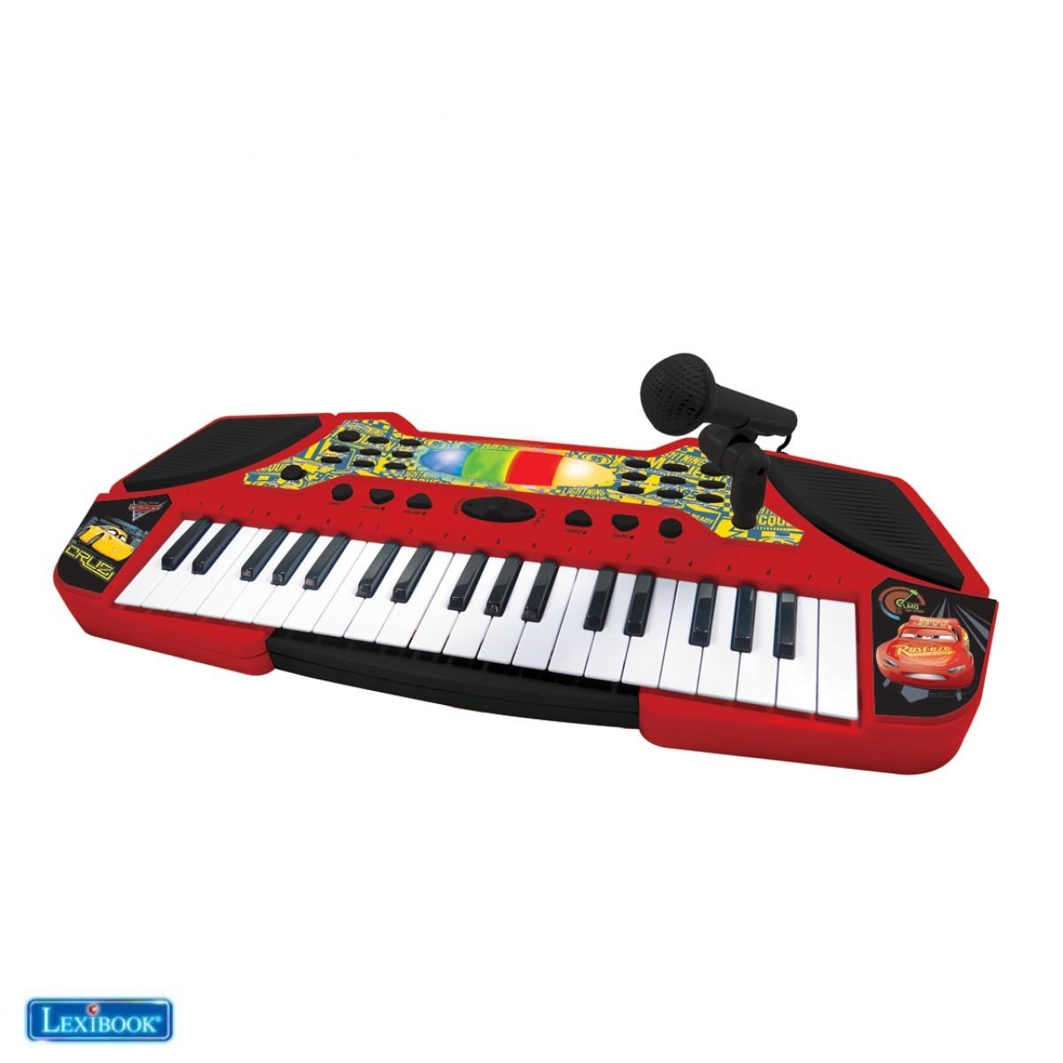 Tastiera electronica con microfono Disney Cars
