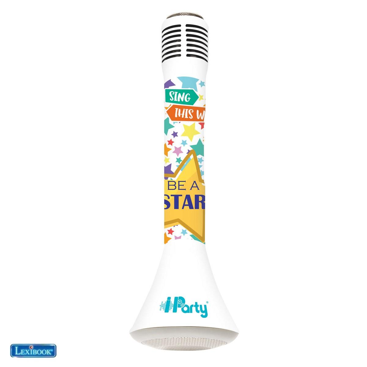 Karaoké Micro Star Bluetooth® iParty avec fonction Changement de voix