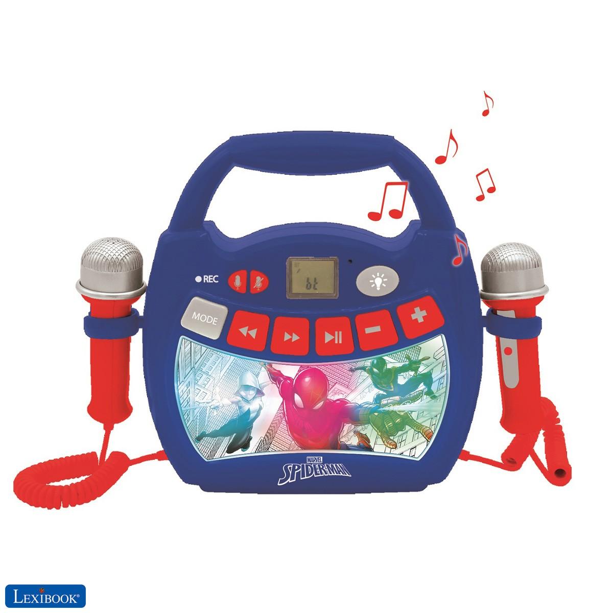 Spider-Man - Lettore musicale karaoke portatile per bambini