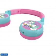 Unicorno Cuffie Bluetooth 2-in-1 per bambini