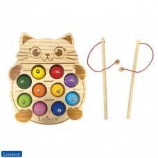 Bio Toys Gioco della pesca a forma di gatto di legno
