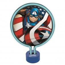 Lampada Neon Avengers Captain America