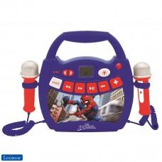 Spiderman - Lecteur musical karaoké portable pour enfant avec micros et effets lumineux