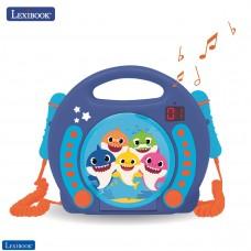 Baby Shark Nickelodeon -Lettore CD Karaoke con 2 microfoni integrati