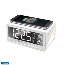 Decotech Orologio sveglia con caricabatteria wireless