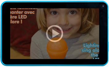 Baby Shark Microphone lumineux pour enfant