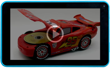 Pixar Cars CD player